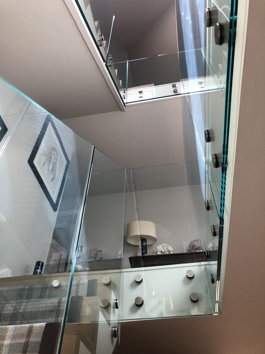 glass balustrades staircase